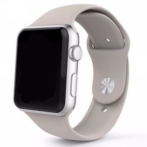 NEW Stone Gray Silicone Sport Band For Apple Watch
